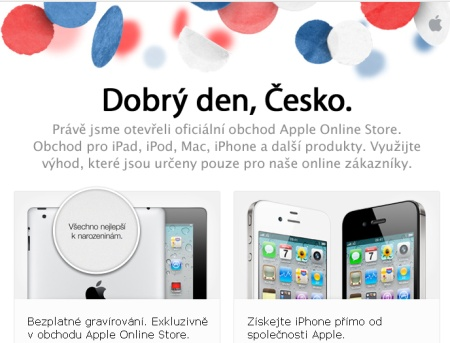 Apple Store Online v ČR